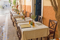 Colorful city of Chania, located in Crete, Greece. Stock Photo