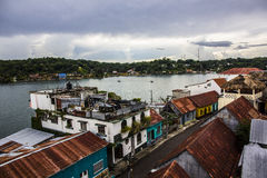 Colorful City. The city of Flores, Guatemala Royalty Free Stock Photo