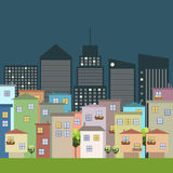 Colorful City, Houses For Sale / Rent. Real Estate Royalty Free Stock Photography