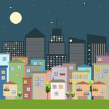 Colorful City, Houses For Sale / Rent. Real Estate Stock Images