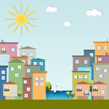 Colorful City, Houses For Sale / Rent. Real Estate Royalty Free Stock Image