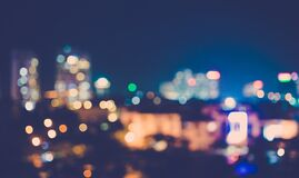 Colorful City Lights Stock Images