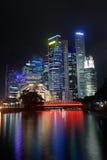Colorful city night Stock Photos