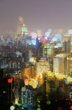 Colorful city night Royalty Free Stock Image
