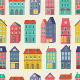 Colorful city pattern Royalty Free Stock Image