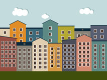 Colorful City. Real Estate Concept, Houses For Sale / Rent. Stock Photos