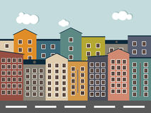 Colorful City. Real Estate Concept, Houses For Sale / Rent. Royalty Free Stock Images