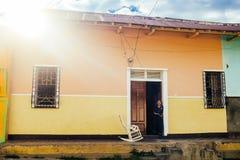 Colorful city scene in Managua Nicaragua Stock Photo