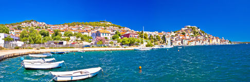 Colorful city of Sibenik panoramic view Royalty Free Stock Image