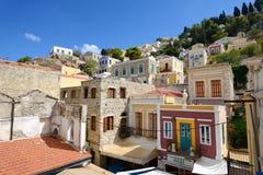 Colorful city of Symi , Greek island Stock Image