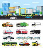Colorful City Transport Collection Royalty Free Stock Image