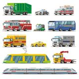 Colorful City Transport Set Stock Images