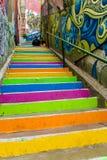 Colorful city Valparaiso stairs Royalty Free Stock Photo
