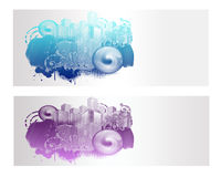 Colorful City Vector Banner. And Backround Royalty Free Stock Image