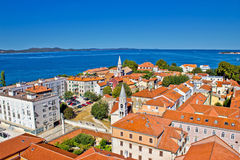 Colorful city of Zadar rooftops & towers Stock Images
