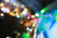 Colorful citylife Abstract lightbulb bokeh background with motion blur Royalty Free Stock Image