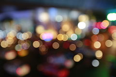 Colorful citylife Abstract lightbulb bokeh background with motion blur Stock Image