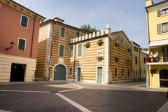 Colorful cityscape, Bardolino, Italy Stock Photography