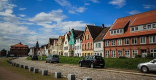 Colorful cityscape. City scape in calm atmosphere of Gluckstadt in Germany Royalty Free Stock Photography