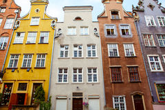 Colorful Cityscape of Gdansk in Poland Royalty Free Stock Photo