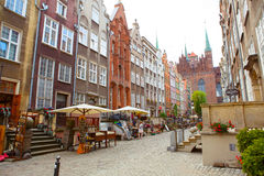Colorful Cityscape of Gdansk in Poland Stock Image