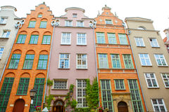 Colorful Cityscape of Gdansk in Poland Stock Photography