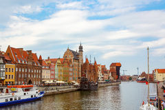 Colorful Cityscape of Gdansk in Poland Royalty Free Stock Image