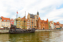 Colorful Cityscape of Gdansk in Poland Royalty Free Stock Photography