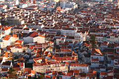Colorful cityscape of Nazare, Portugal Stock Photos