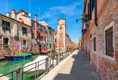 Colorful cityscape of Venice, Italy. Stock Images