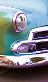 Colorful Classic car. Classic vintage hot rod 1950s sports car.  Blue classic car Royalty Free Stock Photo