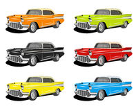 Colorful Classic cars Royalty Free Stock Image