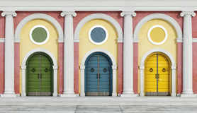 Colorful classic facade Royalty Free Stock Image