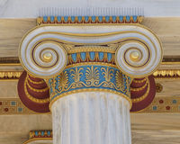 Colorful classical Ionic column capital Royalty Free Stock Photography