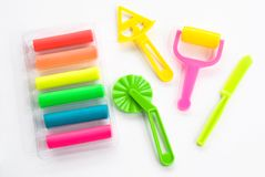 Colorful clay for children Stock Image