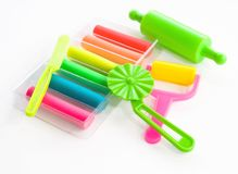 Colorful clay for children Royalty Free Stock Photos