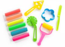 Colorful clay for children Royalty Free Stock Images