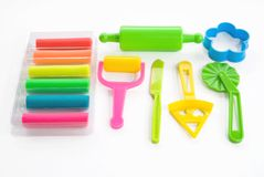 Colorful clay for children Stock Photo