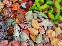 Colorful clay dolls. Stock Photos
