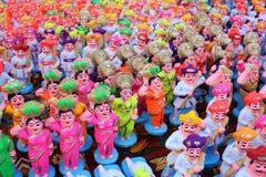Colorful Clay Idols Stock Image