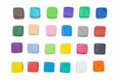 Colorful clay for kid on white background Stock Image