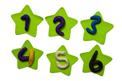 Colorful Clay numeric characters. Stock Photography
