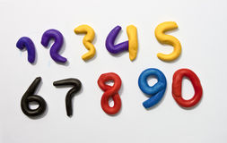 Colorful Clay numeric characters. Royalty Free Stock Image
