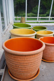 Colorful Clay Pots Stock Photo