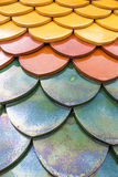 Colorful of clay roof texture Royalty Free Stock Photography