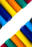 Colorful clay sticks isolated on white background. Royalty Free Stock Photography