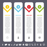 Colorful clean banners template with icons. Infographics vector. Illustration Stock Photos