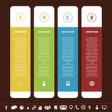 Colorful clean banners template with icons. Infographics vector. Illustration Stock Image