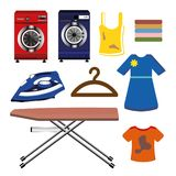 Colorful cleaning clothes  images. On white background Stock Photo