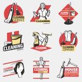 Colorful Cleaning Company略写法 免版税库存照片